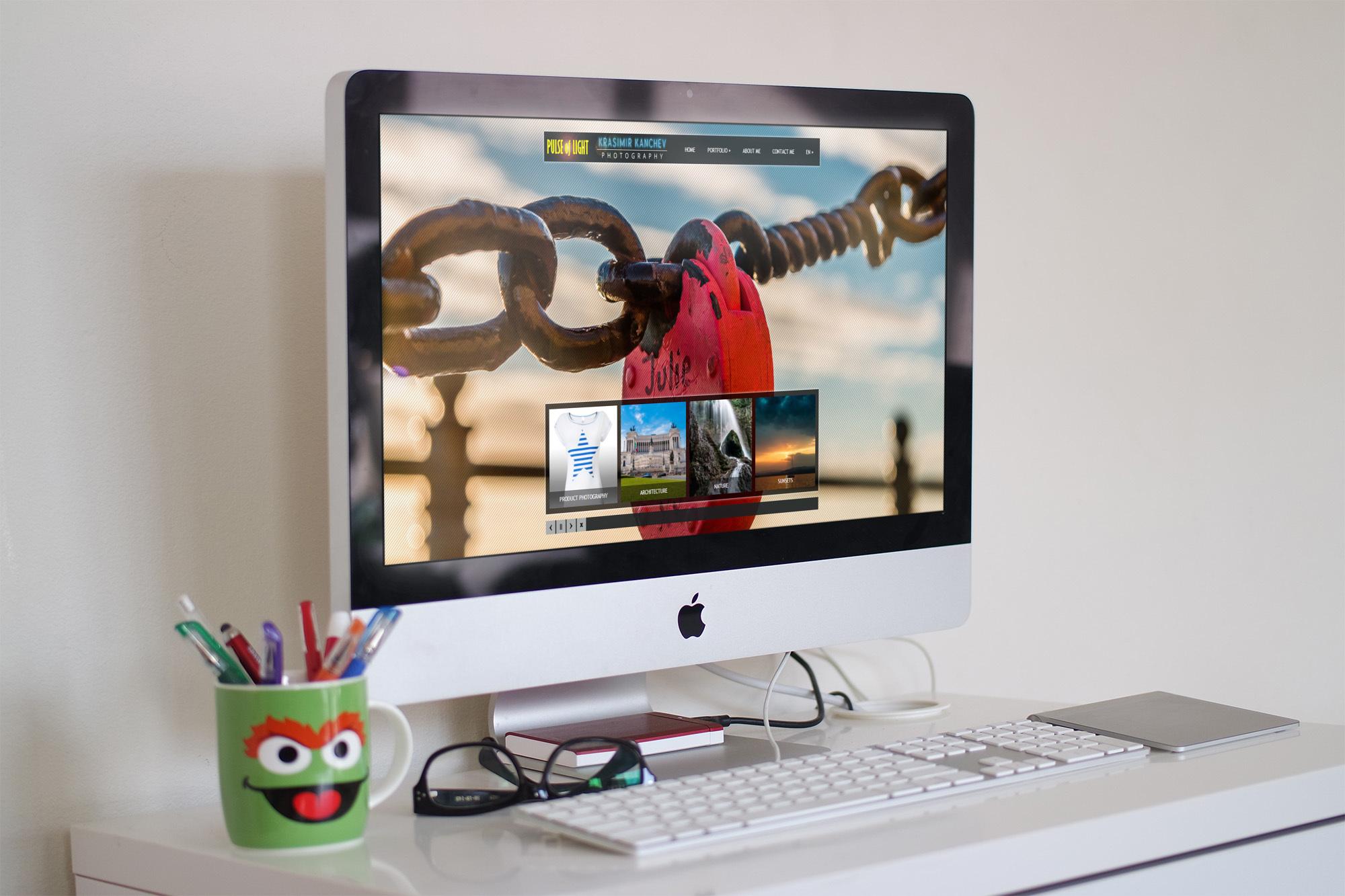 webdesign of photography portfolio website